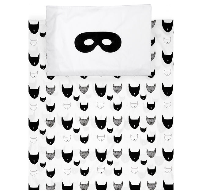 Beautiful monochrome bedding designed by Beau Loves and available from This Modern Life, published by Bobby Rabbit