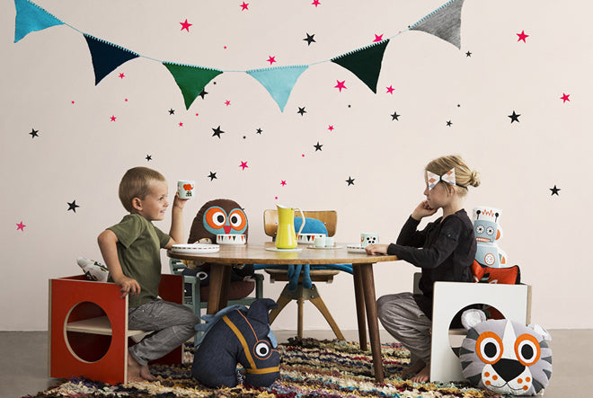 'Mini Stars' wall sticker set for children's rooms by Ferm Living, available from This Modern Life shop, published by Bobby Rabbit
