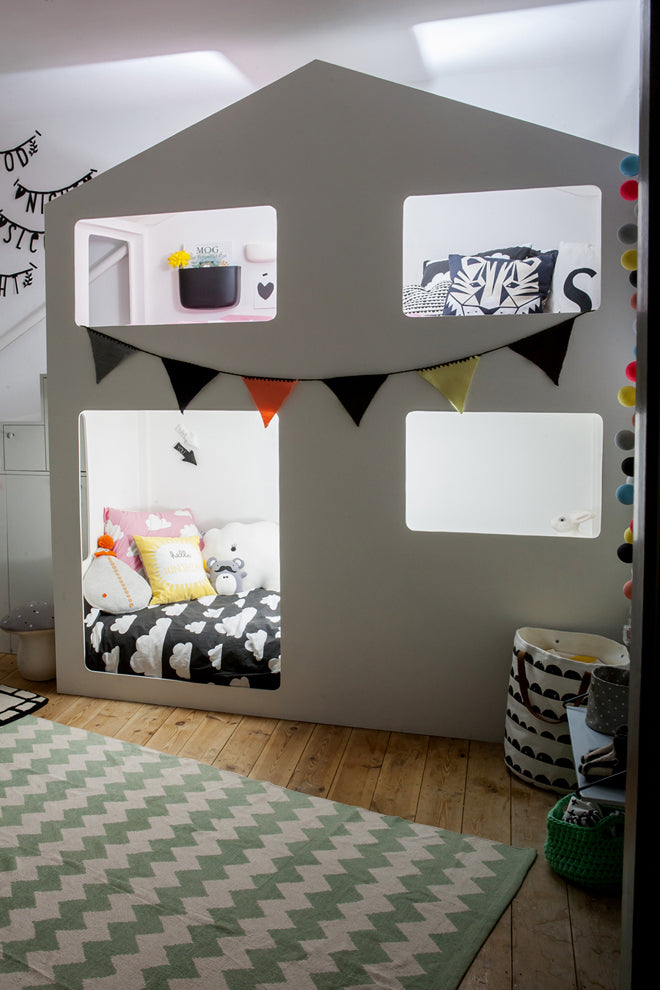 House Bunkbed designed by This Modern Life, published by Bobby Rabbit
