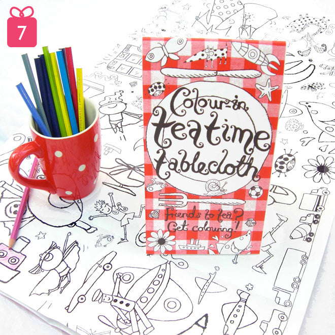 toys, activity toys, tableware, colour-in tablecloth, Eggnogg tablecloth, gifts, christmas gifts, birthday presents, Notonthehighstreet, published by Bobby Rabbit