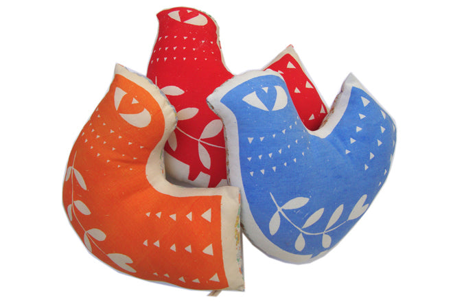 textiles, cushions, children's cushions, bird cushions, Zeena, published by Bobby Rabbit