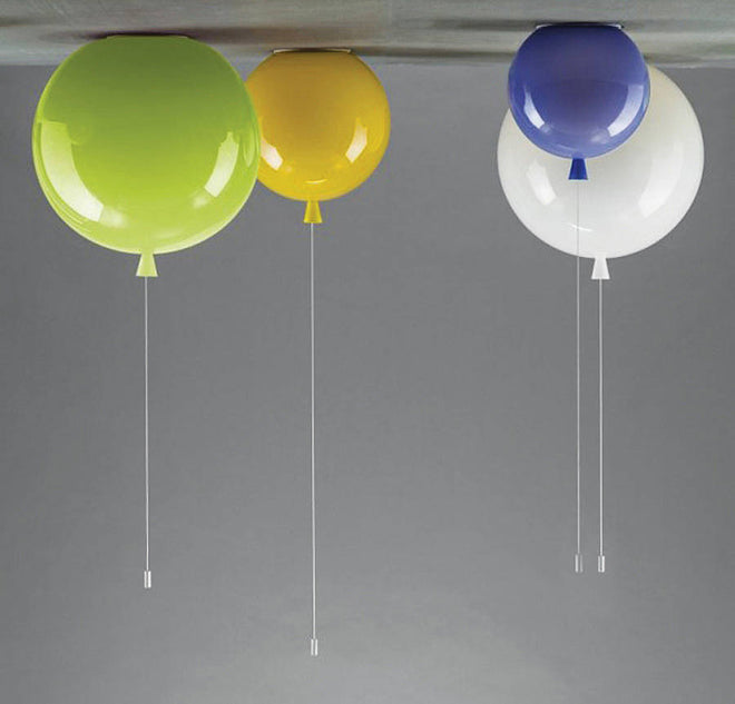 Colourful children's balloon ceiling light by John Moncrieff, available from Notonthehighstreet and published by Bobby Rabbit
