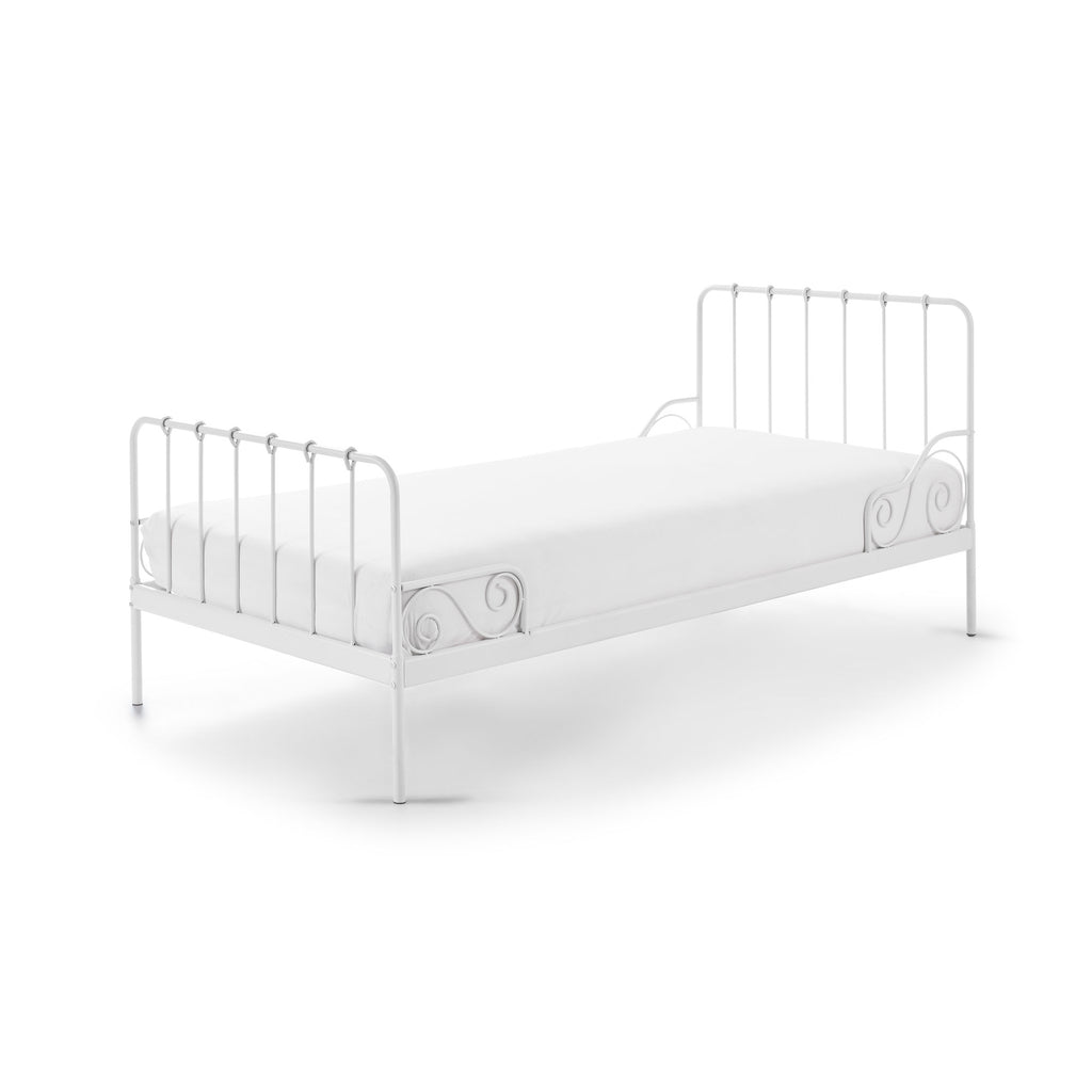'Alice' White Metal Single Bed by Vipack, available at Bobby Rabbit. Free UK Delivery over £75