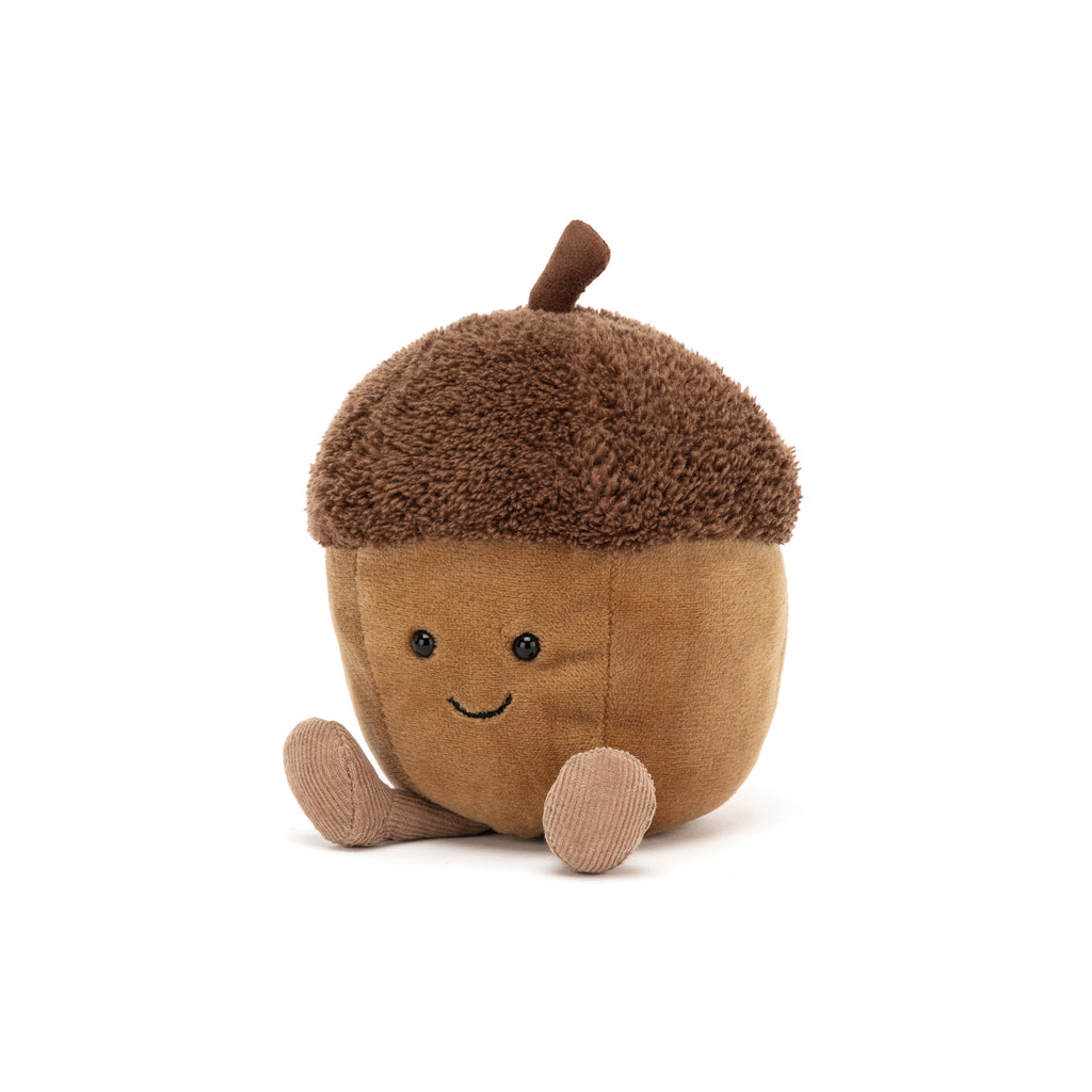 Amuseable Acorn Soft Toy, designed and made by Jellycat and available at Bobby Rabbit. Free UK Delivery over £75