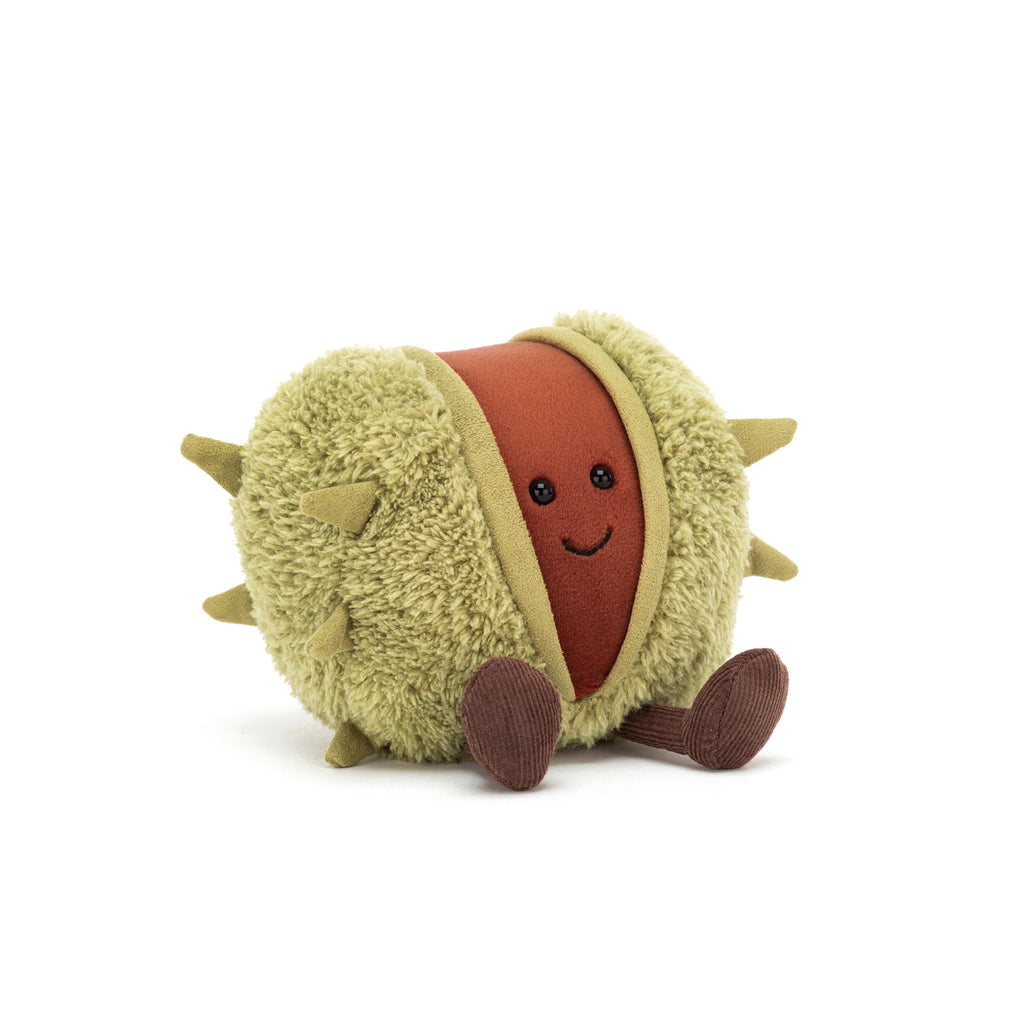 Amuseable Conker Soft Toy, designed and made by Jellycat and available at Bobby Rabbit. Free UK Delivery over £75
