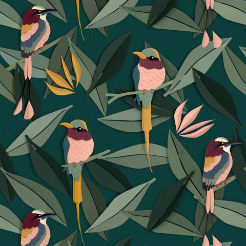 Birds Wallpaper by Studio Ditte, available at Bobby Rabbit. Free UK Delivery over £75