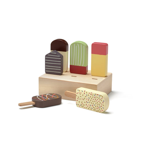 Ice Lollies Set by Kids Concept, available at Bobby Rabbit. Free UK Delivery over £75