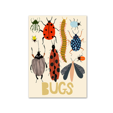 Bugs A3 Print by Yayastudio, available at Bobby Rabbit. Free UK Delivery over £75
