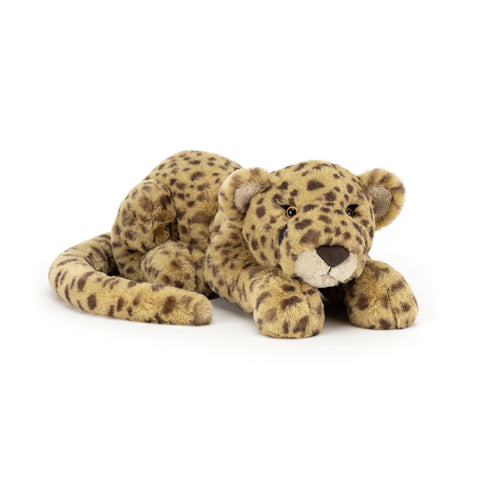 Charley Cheetah Soft Toy, designed and made by Jellycat and available at Bobby Rabbit. Free UK Delivery over £75