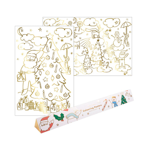 Christmas Colouring Poster Set by Meri Meri, available at Bobby Rabbit. Free UK Delivery over £75
