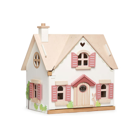 Cottontail Cottage Dolls House by Tenderleaf Toys, available at Bobby Rabbit. Free UK Delivery over £75