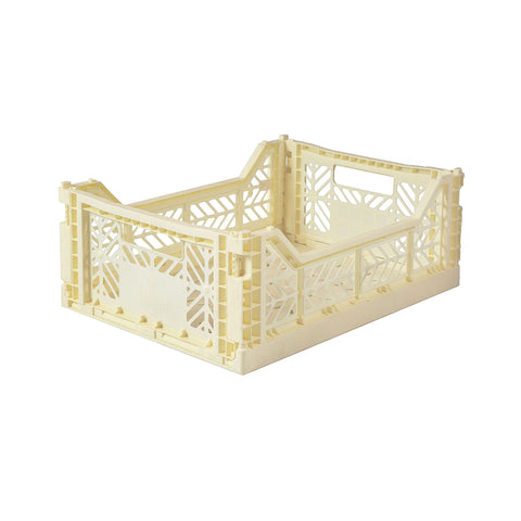 Folding Crate Midi Size - Banana Yellow - by Lillemor Lifestyle, available at Bobby Rabbit.