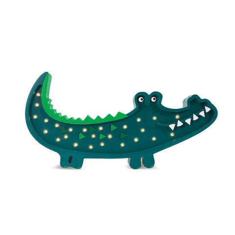 Crocodile Lamp by Little Lights, available at Bobby Rabbit. Free UK Delivery over £75