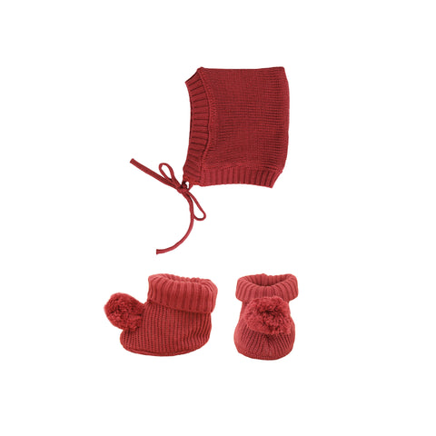 Dinkum Doll Knit Set - Plum by Olli Ella, available at Bobby Rabbit. Free UK Delivery over £75