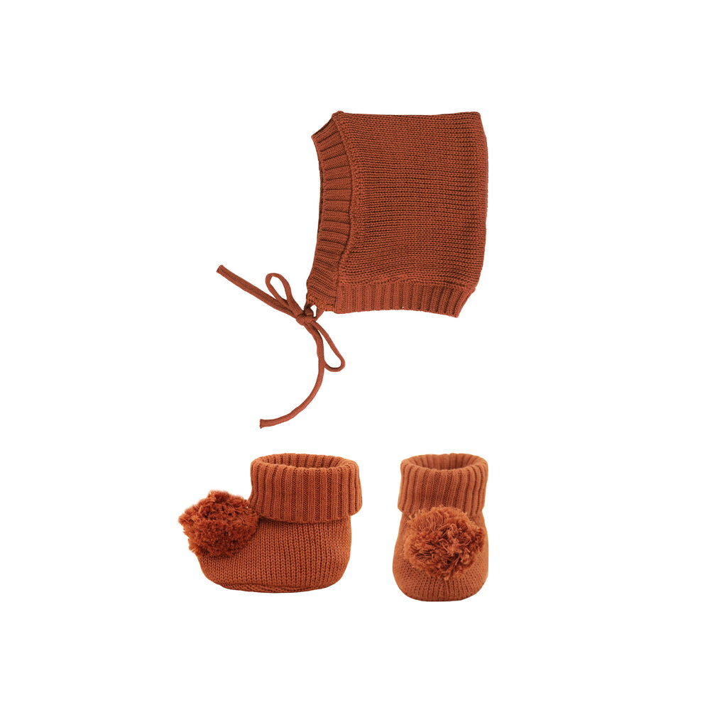 Dinkum Doll Knit Set - Umber by Olli Ella, available at Bobby Rabbit. Free UK Delivery over £75
