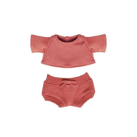 Dinkum Doll Snuggly Set - Berry by Olli Ella, available at Bobby Rabbit. Free UK Delivery over £75