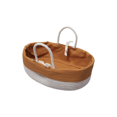 Rope Dolls Basket - Ochre by Fabelab, available at Bobby Rabbit. Free UK Delivery over £75