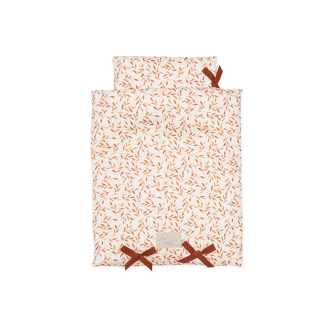 Dolls Bedding Caramel Leaves by Cam Cam Copenhagen, available at Bobby Rabbit. Free UK Delivery over £75