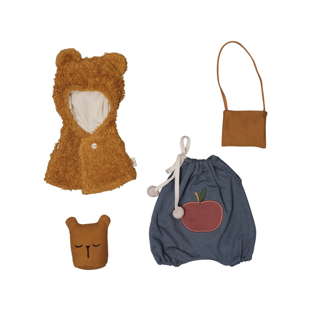 Dolls Clothes - Bear Cape by Fabelab, available at Bobby Rabbit. Free UK Delivery over £75