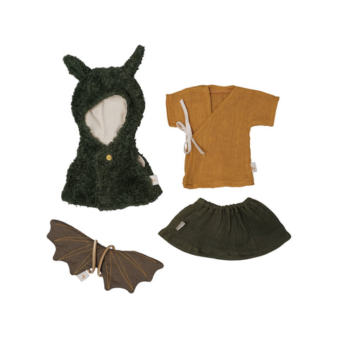 Dolls Clothes - Dragon Cape by Fabelab, available at Bobby Rabbit. Free UK Delivery over £75