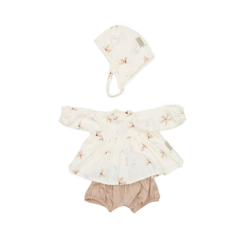 Dolls Clothes Set Windflower by Cam Cam Copenhagen, available at Bobby Rabbit. Free UK Delivery over £75