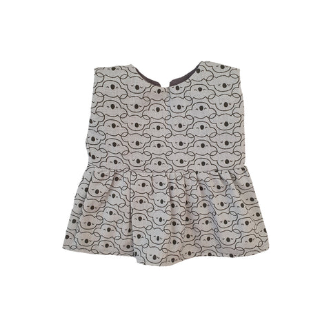 Koala Dress to fit 34cm Dolls by Maman Poule, available at Bobby Rabbit. Free UK Delivery over £75