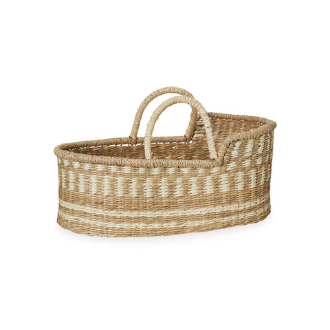 Dolls Moses Basket - Natural by Cam Cam Copenhagen, available at Bobby Rabbit. Free UK Delivery over £75