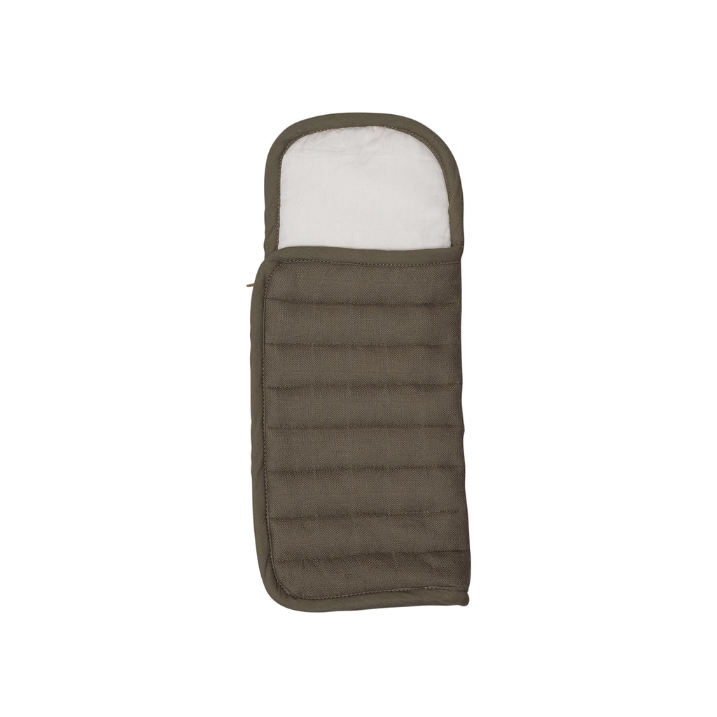 Dolls Sleeping Bag - Olive by Fabelab, available at Bobby Rabbit. Free UK Delivery over £75