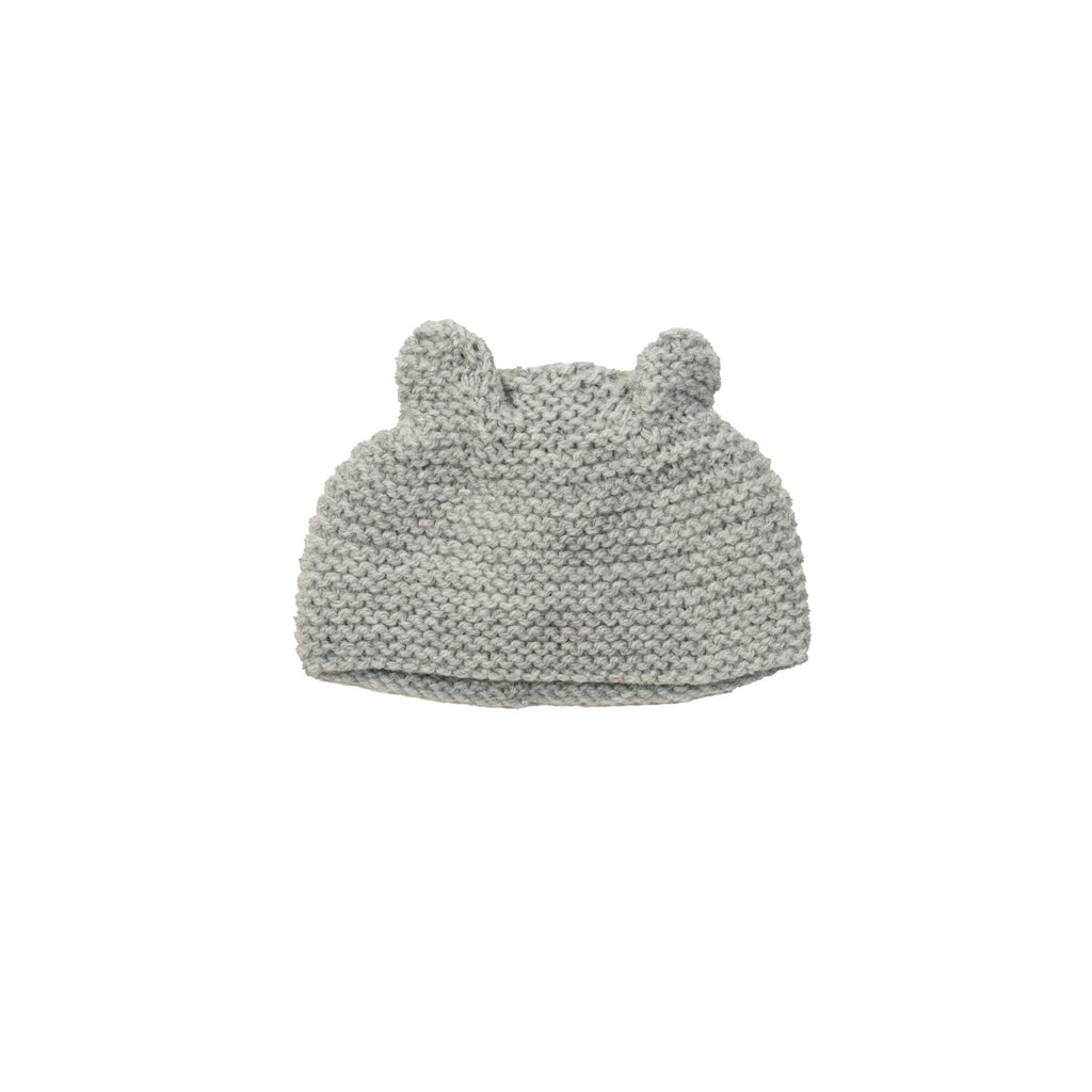 Knitted Teddy Bear Dolls Hat to fit 34cm Doll by Maman Poule, available at Bobby Rabbit. Free UK Delivery over £75