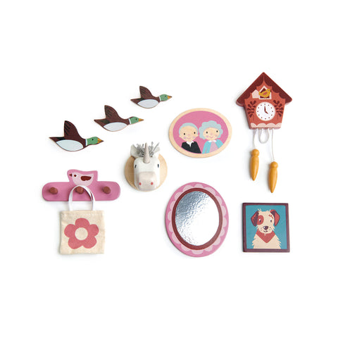 Dovetail House Dolls House Wall Decor by Tender Leaf Toys, available at Bobby Rabbit. Free UK Delivery over £75
