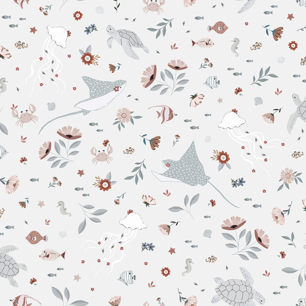 Dreamy Sea Life Wallpaper by Lilipinso, available at Bobby Rabbit.
