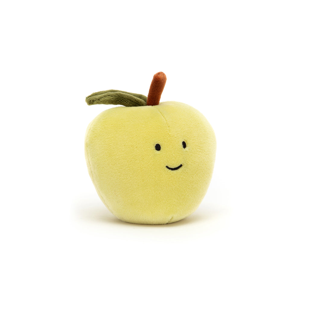 Fabulous Fruit - Apple Soft Toy, designed and made by Jellycat and available at Bobby Rabbit. Free UK Delivery over £75