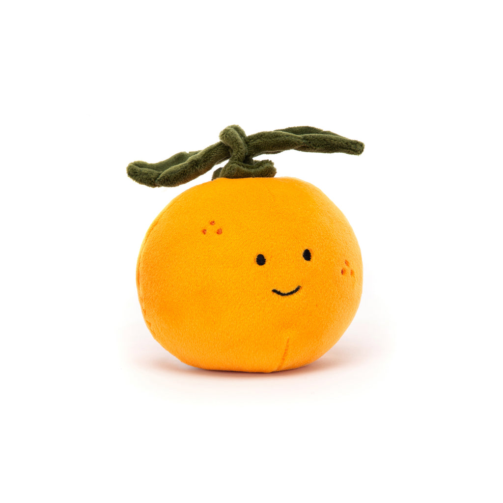 Fabulous Fruit - Orange Soft Toy, designed and made by Jellycat and available at Bobby Rabbit. Free UK Delivery over £75
