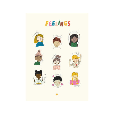 Feelings Poster by Seb and Charlie for Bobby Rabbit, available exclusively at Bobby Rabbit. Free UK Delivery over £75