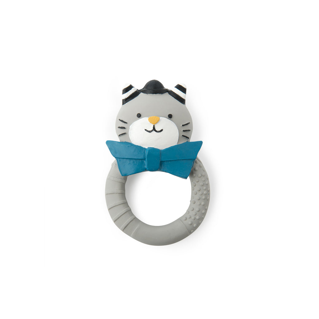 'Fernand' Cat Teething Toy by Moulin Roty, available at Bobby Rabbit. Free UK Delivery over £75
