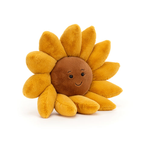 Fleury Sunflower Soft Toy, designed and made by Jellycat and available at Bobby Rabbit. Free UK Delivery over £75