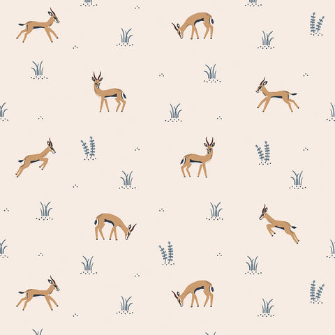 Gazelles Wallpaper by Lilipinso, available at Bobby Rabbit.