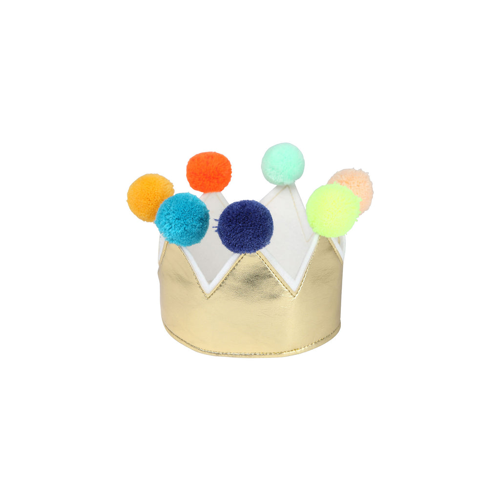 Gold Pompom Crown by Meri Meri, available at Bobby Rabbit.