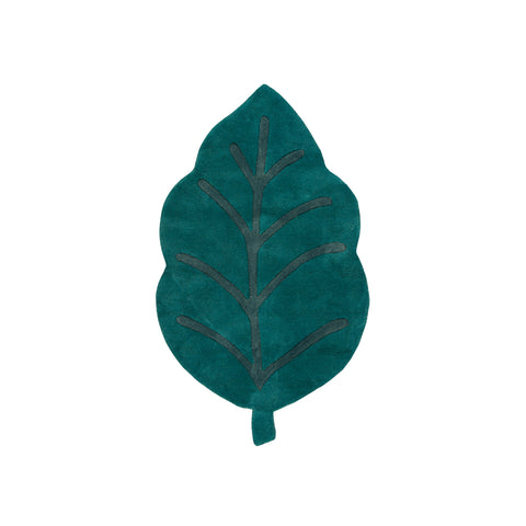Green Leaf Rug by Lilipinso, available at Bobby Rabbit. Free UK Delivery over £75