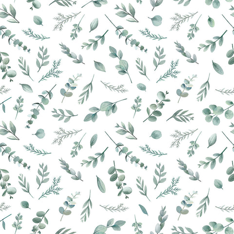 Green Leaves Wallpaper by Lilipinso, available at Bobby Rabbit.