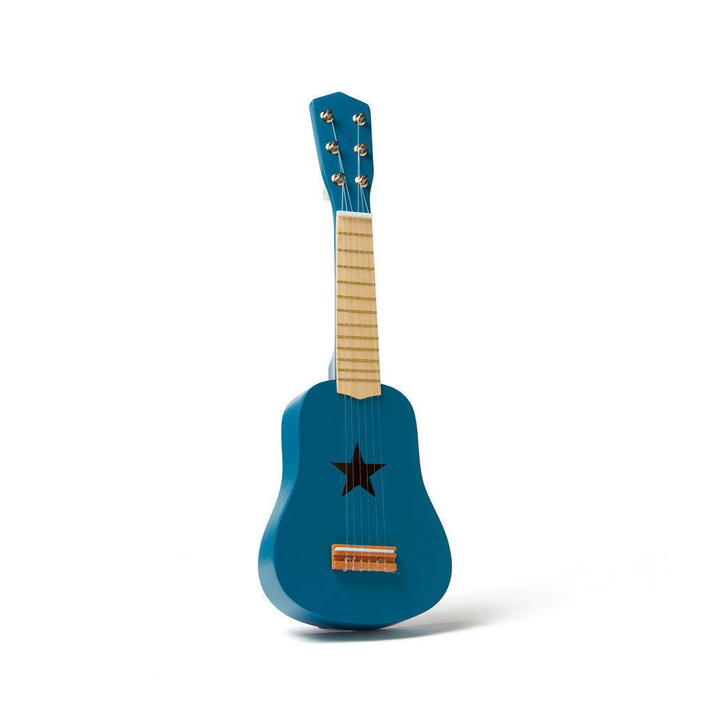 Blue Guitar by Kids Concept, available at Bobby Rabbit.
