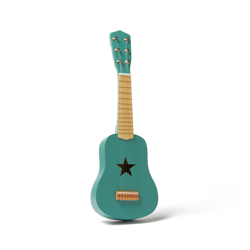 Green Guitar by Kids Concept, available at Bobby Rabbit.