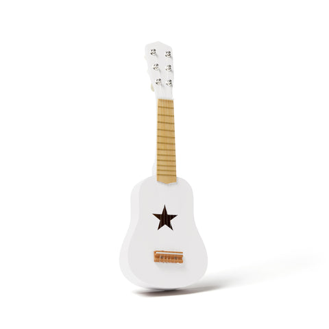 White Guitar by Kids Concept, available at Bobby Rabbit.