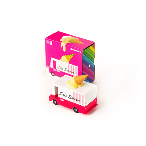 Candycar mini wooden ice cream van by Candylab, available at Bobby Rabbit. Free UK Delivery over £75