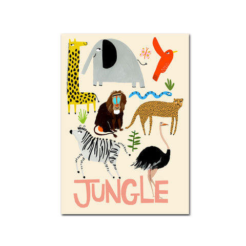 Jungle A3 Print by Yayastudio, available at Bobby Rabbit. Free UK Delivery over £75