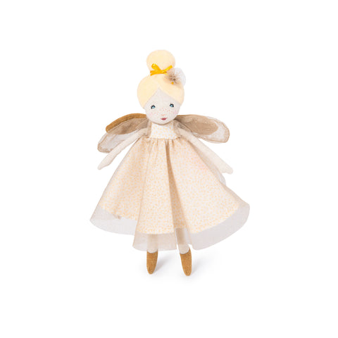 Little Enchanted Fairy Doll - Golden by Moulin Roty, available at Bobby Rabbit.
