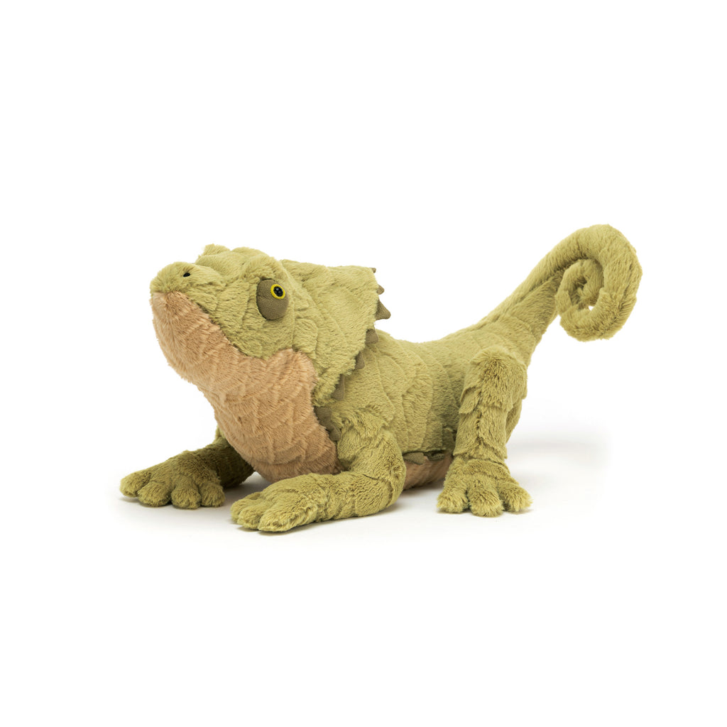 Logan Lizard Soft Toy, designed and made by Jellycat and available at Bobby Rabbit. Free UK Delivery over £75