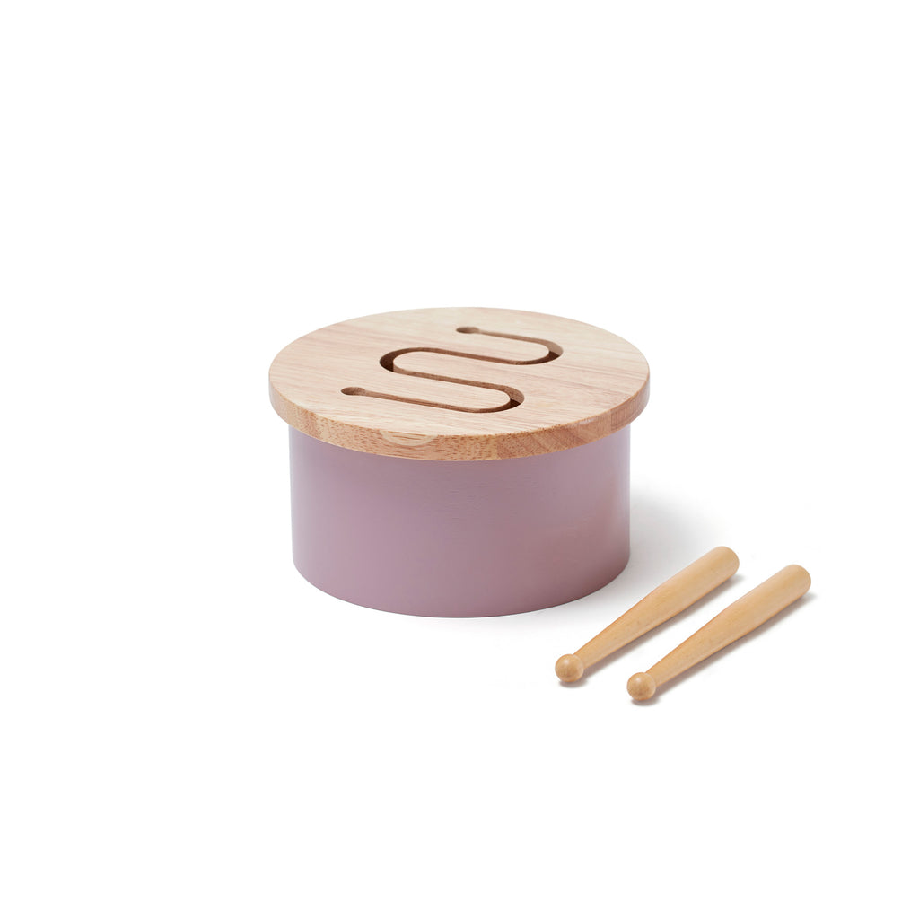 Wooden Drum - Lilac by Kids Concept, available at Bobby Rabbit.
