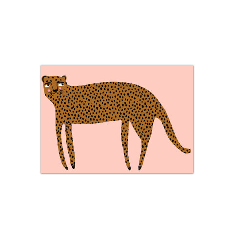 Mr Leopard A4 Print by Yayastudio, available at Bobby Rabbit. Free UK Delivery over £75