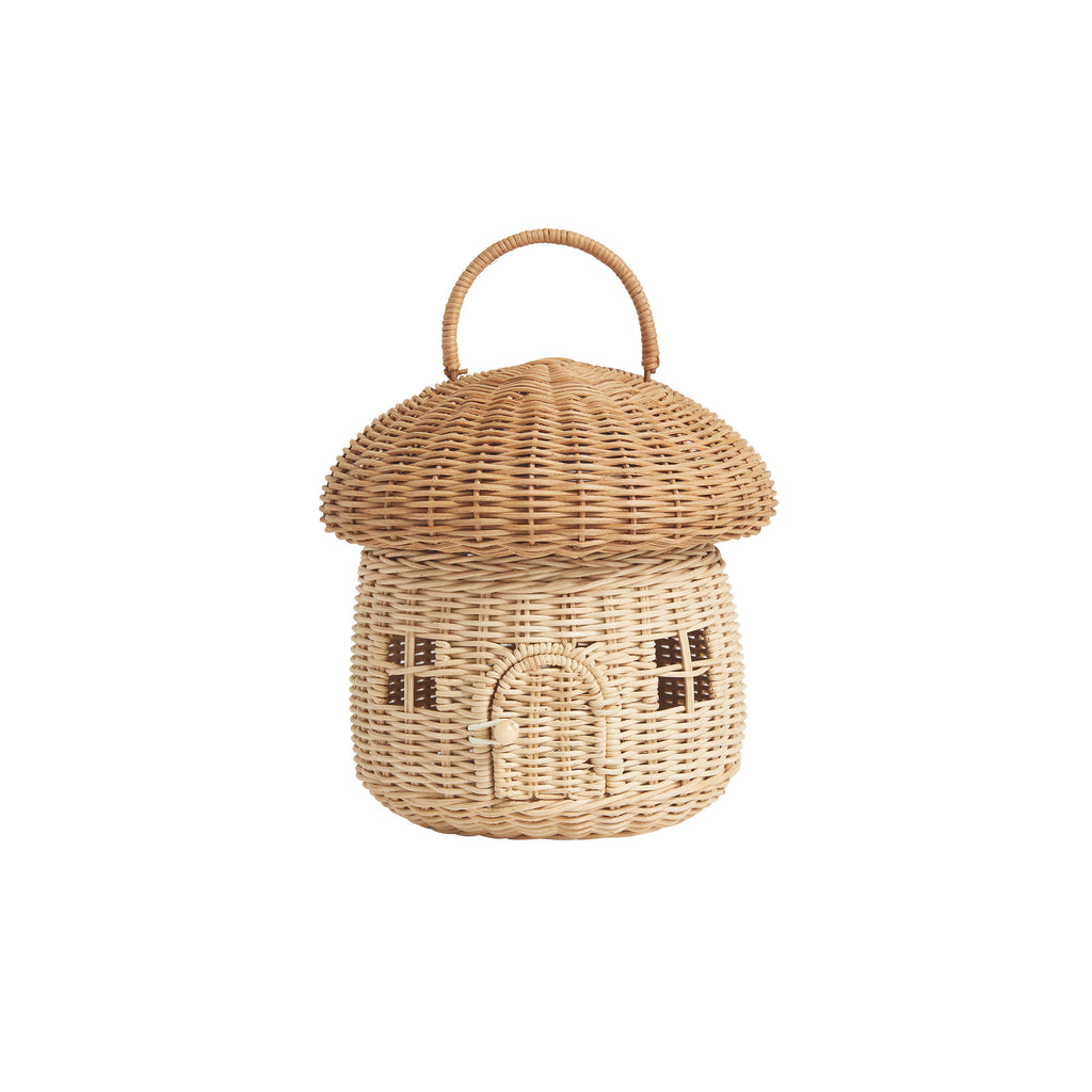 Mushroom Basket by Olli Ella, available at Bobby Rabbit. Free UK Delivery over £75